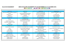 ville de houdemont menu scolaire houdemont du 26 septembre au