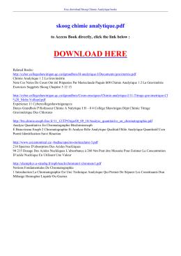 skoog chimie analytique pdf