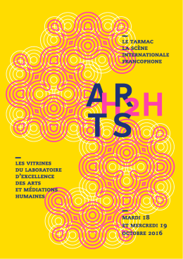 Télécharger le programme (pdf, 2 Mo) - LABEX Arts-H2H