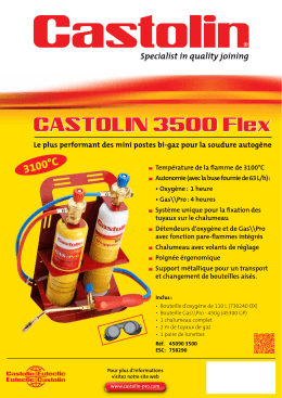 Castolin 3500 Flex - La boutique du soudeur