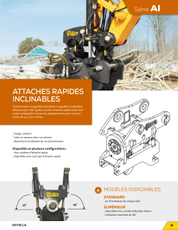 attaches rapides inclinables