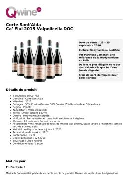 Corte Sant`Alda Ca` Fiui 2015 Valpolicella DOC