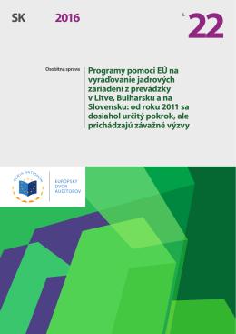 Programy pomoci EÚ na vyraďovanie jadrových