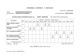 všetky programy - Ekonomická univerzita v Bratislave