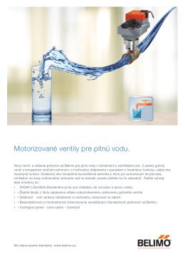 Motorizované ventily pre pitnú vodu.
