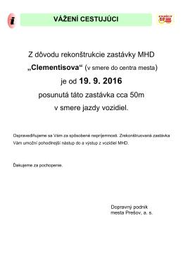 VÁŽENÍ CESTUJÚCI - Dopravný podnik mesta Prešov