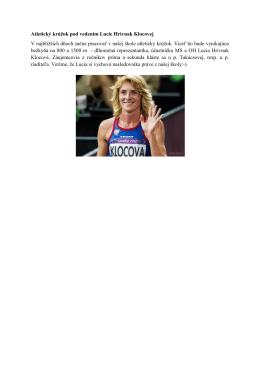 Atletický krúžok pod vedením Lucie Hrivnak Klocovej V