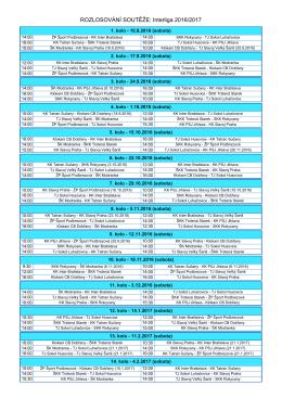 ROZLOSOVÁNÍ SOUTĚŽE: Interliga 2016/2017