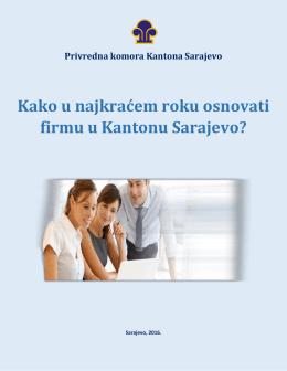 Kako osnovati firmu u KS - Privredna komora Kantona Sarajevo