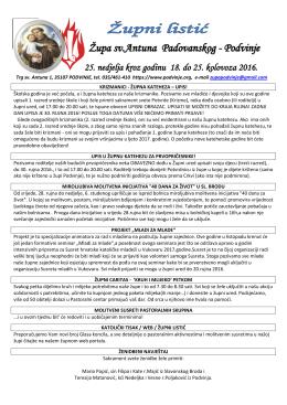 Župa sv.Antuna Padovanskog - Podvinje