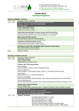 Program Skupa ConferenceProgramme
