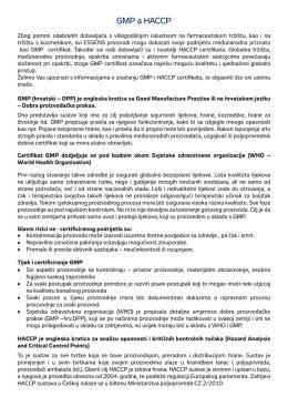 GMP a HACCP - EssensWorld