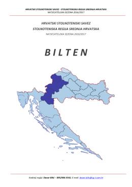 bilten regije srednja hrvatska za sezonu 2016-2017