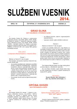 Proračun - Općina GVOZD