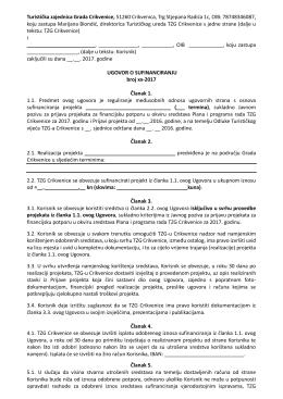 Primjer ugovora ispod 20.000,00 kn
