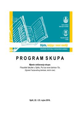 Program skupa Dijete, knjiga i novi mediji