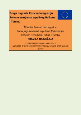 Druga nagrada EU-a za integraciju Roma u zemljama