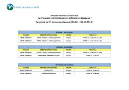 Raspored predavanja – SDiRP