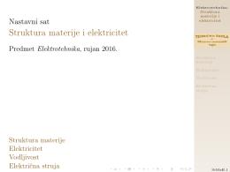 Struktura materije i elektricitet