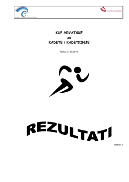 Rezultati - Atletski Klub Kvarner