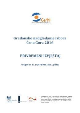 Građansko nadgledanje izbora Crna Gora 2016