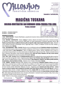 Toskana 6 dana 3 noćenja - Turistička agencija Marco Polo