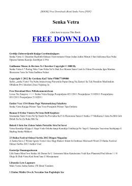 SENKA VETRA | Free eBook