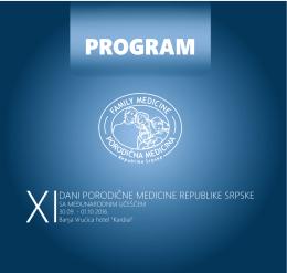 Finalni program konferencije XI dani porodične medicine RS sa