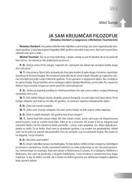 Mišel Turnije: JA SAM KRIJUMČAR FILOZOFIJE