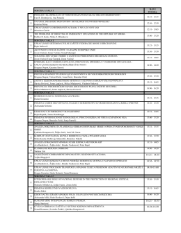 Raspored izlaganja