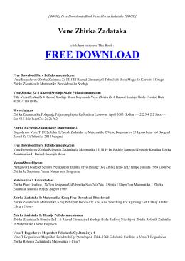 VENE ZBIRKA ZADATAKA | ebook PDF