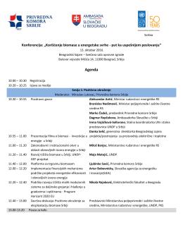 Agenda - Privredna komora Srbije