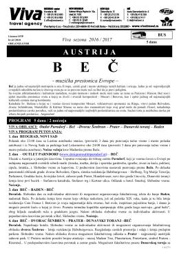 Beč 5 dana 2 noćenja - Turistička agencija Marco Polo