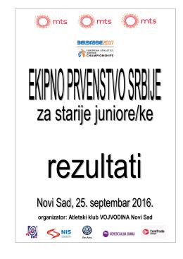 organizator: Atletski klub VOJVODINA Novi Sad