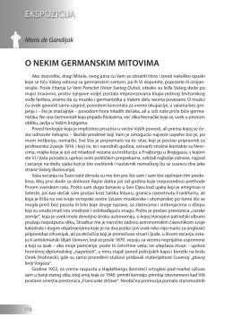 Moris de Gandijak: O NEKIM GERMANSKIM MITOVIMA