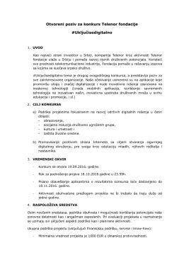 Otvoreni poziv za konkurs Telenor fondacije #Uključisedigitalno