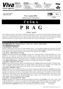 Prag 6 dana - Turistička agencija Marco Polo