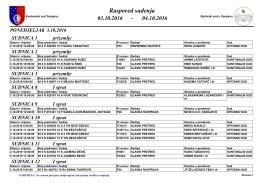 Raspored suđenja - Općinski sud u Sarajevu