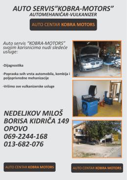 "auto servis""kobra-motors"""