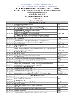 Plan konferencije