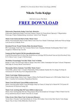 NIKOLA TESLA KNJIGE   ebook PDF