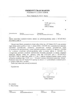 Stavebné povolenie na prístavbu montažnej haly VAW