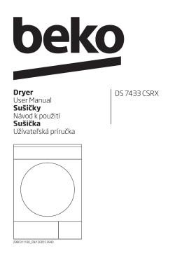 DS 7433 CSRX Dryer User Manual Sušičky Návod k použití Sušička