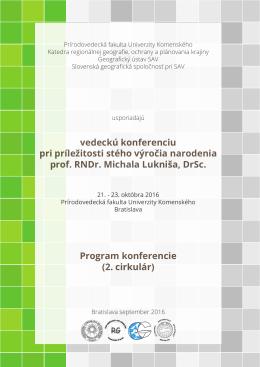 2. obežník - Katedra regionálnej geografie, ochrany a plánovania