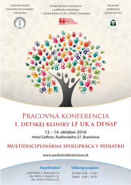 Program na stiahnutie - pediatriabratislava.sk