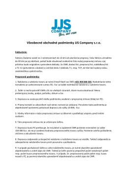 Všeobecné obchodné podmienky (vseobecne_jjs)