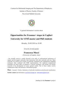Možnosti štúdia a spolupráca s Univerzitou Cagliari v rámci Erasmus+