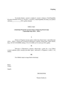 Program razvoja sustava strukovnog obrazovanja i osposobljavanja