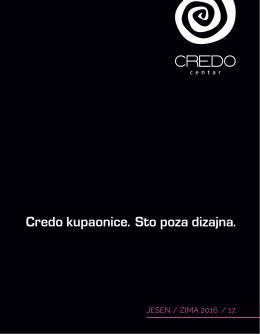PDF Katalog - CREDO CENTAR