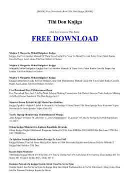 TIHI DON KNJIGA - INDEX | ebook PDF